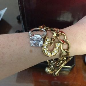 Juicy Couture Gold Charm Bracelet W 3 Charms